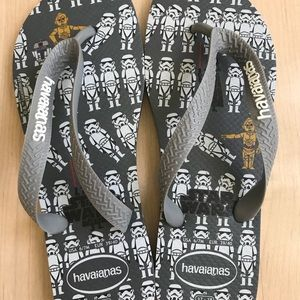 Havaianas Steel Grey Star Wars flip flop sandals